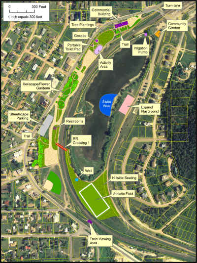 Click on the plan to zoom in or download the plan for Palmer Lake Regional Park